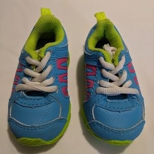 Koala Kids Blue w/Pink Stripes Sneakers Sz 2 Baby